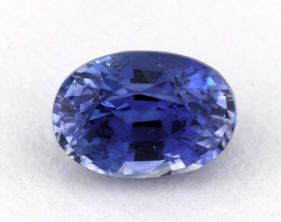 0.96ct Sapphire with Weak Saturation