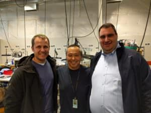 Ira and Mike at Blue Nile's fulfillment center in Seattle
