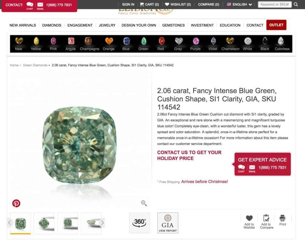Leibish Diamond Page
