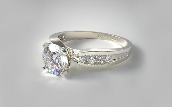 Channel setting diamond ring