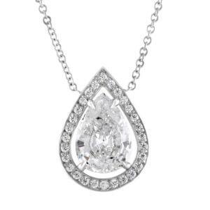 Pear Drop Diamond Pendant