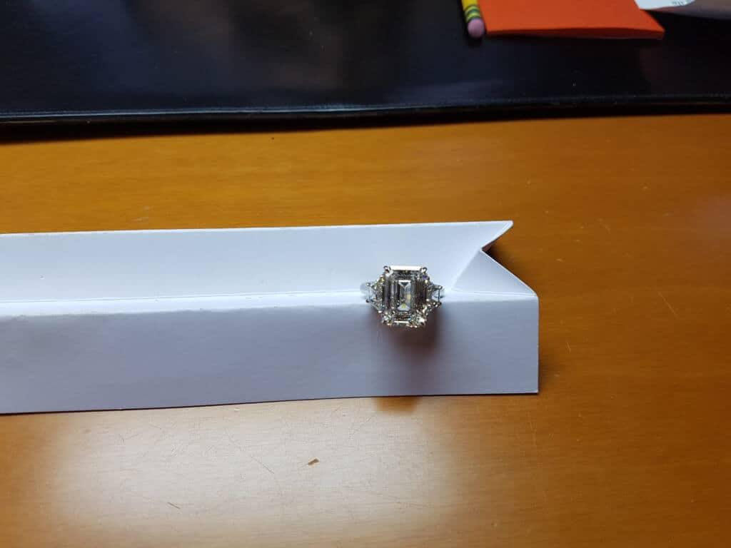 5 Carat Custom Engagement Ring by Abe Mor