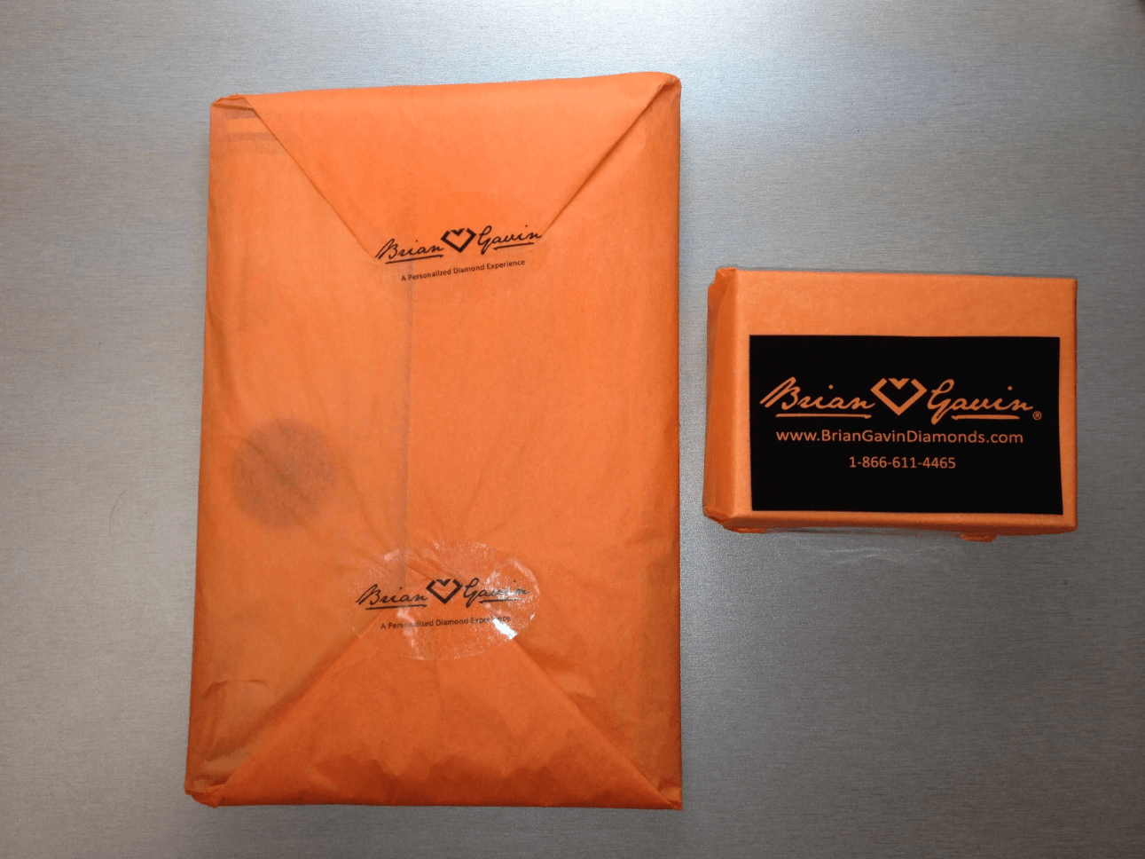AGS Certificate and Ring Box in Packaging by Brian Gavin Diamonds