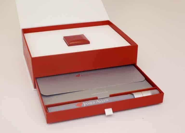 James Allen Packaging Box Opened