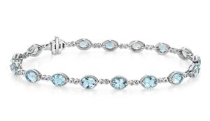 Aquamarine Infinity Link Bracelet