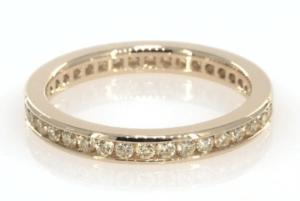 18K Yellow Gold Natural Fancy Yellow Diamond Eternity Ring