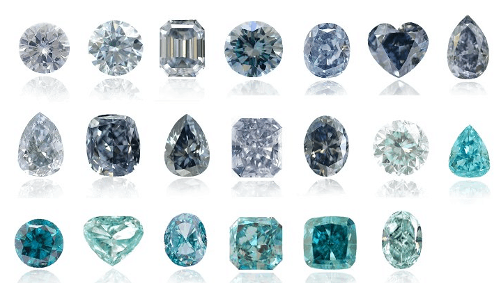 Pictures of Blue Diamonds