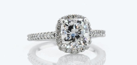 1.50ct Halo Engagement Ring