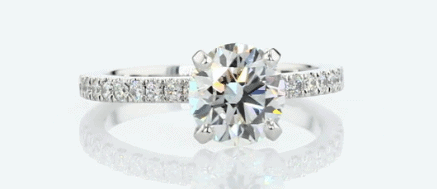 1.50ct Pave Engagement Ring