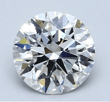 Eye-clean 1.50ct H/VS1 round cut diamond