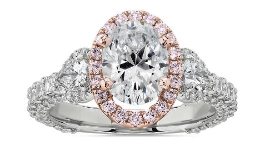 Bella Vaughan for Blue Nile Catarina Diamond Engagement Ring