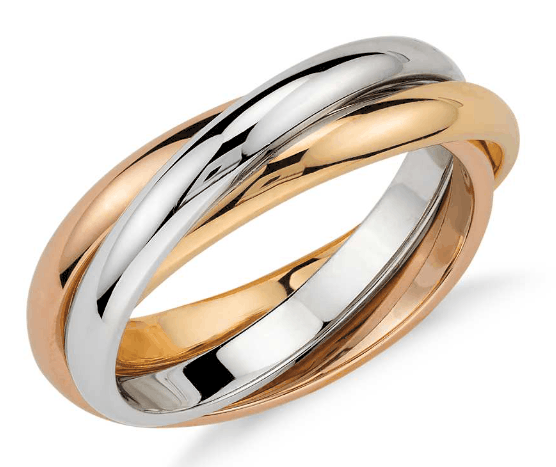 18K Gold Trio Rolling Ring